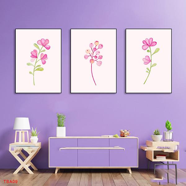giấy dán tường hình màu hồng
