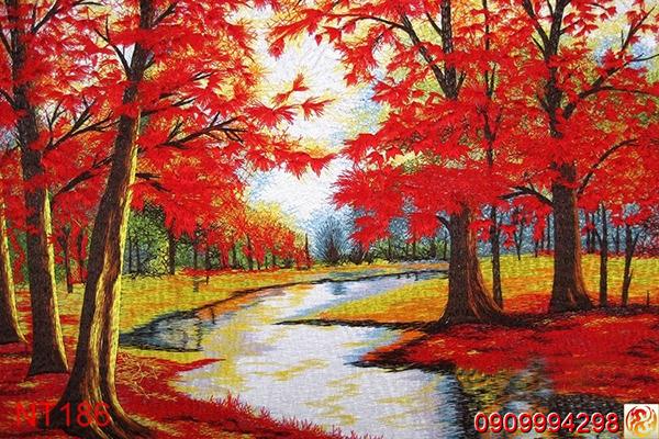 mẫu tranh dán tường phong cảnh