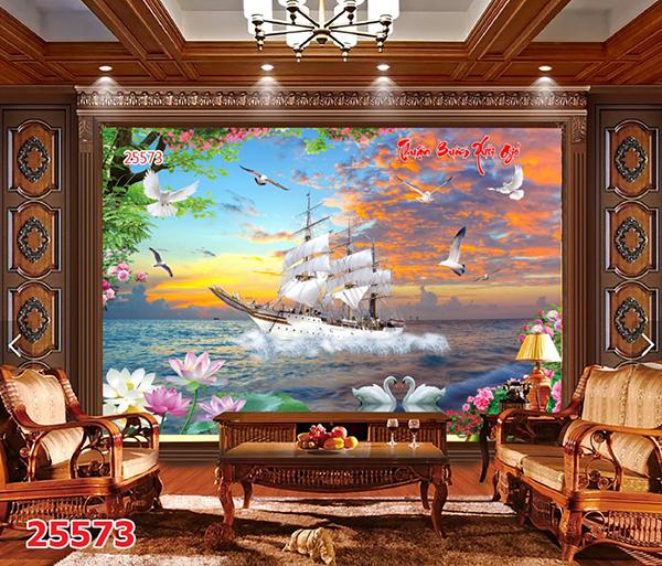 tranh phong cảnh 3d dán tường